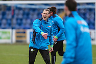 Tom Huelin, FGR's strength and conditioning coach during the FA Trophy 2nd round match between Chester FC and Forest Green Rovers at the Deva Stadium, Chester, United Kingdom on 14 January 2017. Photo by Shane Healey.