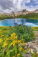 Ice Lake; Fuller Peak, Vermilion Peak, and Golden Horn; near Silverton, Colorado