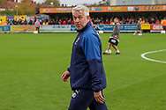AFC Wimbledon assistant manager Nick Daws looking to touchline during the EFL Sky Bet League 1 match between AFC Wimbledon and Lincoln City at the Cherry Red Records Stadium, Kingston, England on 2 November 2019.