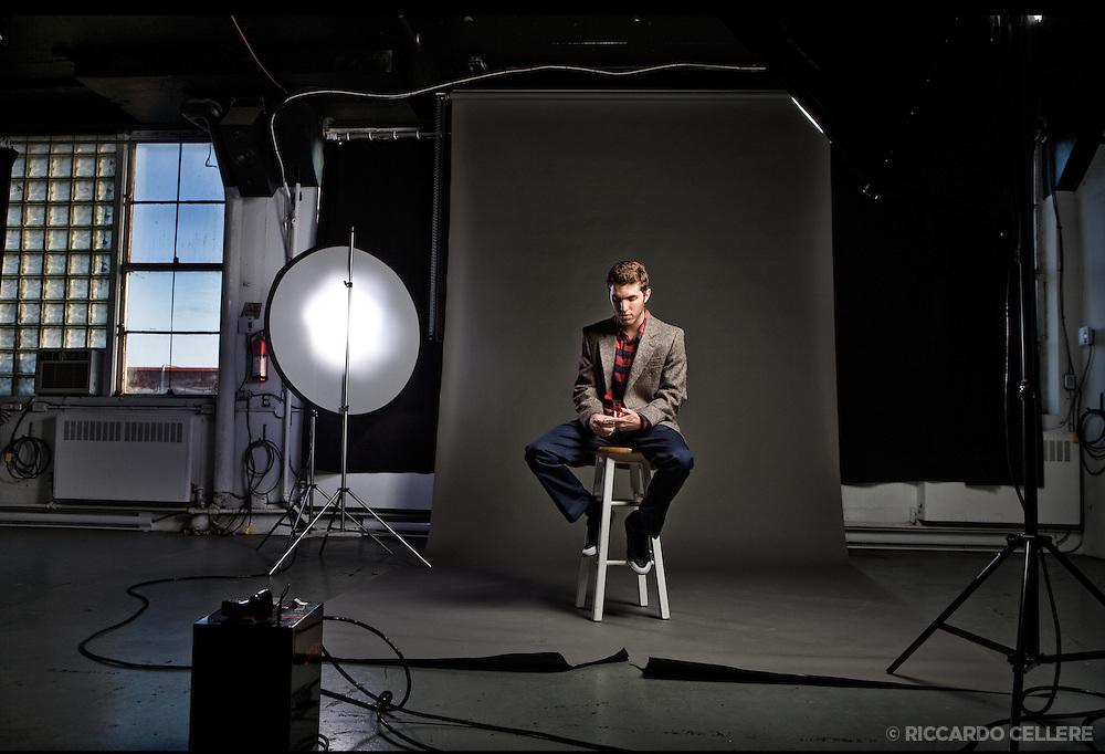 Portrait photography. Patrick Lehman, Vocalist. 2010.