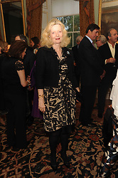 A party to promote the exclusive Puntacana Resort & Club - the Caribbean's Premier Golf & Beach Resort Destination, was held at Spencer House, London on 13th May 2010.<br /> <br /> Picture shows:- LADY WEIDENFELD