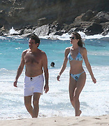 Stephanie Seymour and her husband Peter Brant with their daughter Lilly Margaret.Salines Beach.St Barth, Caribbean.Tuesday December 26, 2006.Photo By Celebrityvibe.com.To license this image please call (212) 410 5354; or.Email: celebrityvibe@gmail.com ;.Website: www.celebrityvibe.com ..