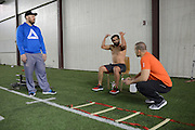Johny Hendricks trains at Kennedale High School in Kennedale, Texas on March 5, 2014.
