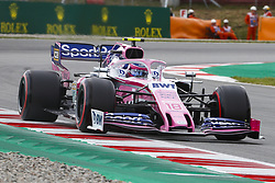 May 11, 2019 - Barcelona, Catalonia, Spain - Racing Point BWT Mercedes driver Lance Stroll (18) of Canada during F1 Grand Prix free practice celebrated at Circuit of Barcelona 11th May 2019 in Barcelona, Spain. (Credit Image: © Mikel Trigueros/NurPhoto via ZUMA Press)