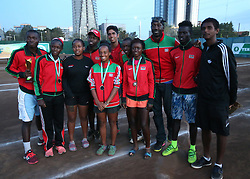 Kenya teampose for a photo during their 14th African Nations Cup (CAN) 2016 on the Final day at Nairobi Club on November 13, 2016. Photo/Fredrick Onyango/www.pic-centre.com (KEN)
