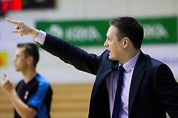 Aleksander Sekulic, head coach of Krka during basketball match between KK Krka Novo mesto and Pinar Karsiyaka (TUR) in 5th Round of EuroChallenge 2013 on December 4, 2012 in Arena Leon Stukelj, Novo mesto, Slovenia. (Photo By Vid Ponikvar / Sportida)