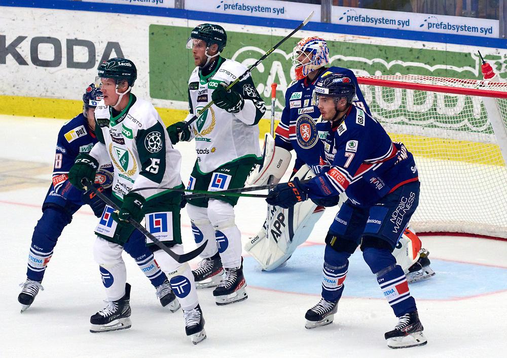 2021-09-11 VÄXJÖ<br />  Växjö Lakers - Färjestad BK<br /> SHL Premiär 2021<br /> <br /> <br /> <br />  ***betalbild***<br /> <br /> Foto: Peo Möller<br /> <br /> SHL, ishockey, Växjö Lakers, is, rink, spelare, hockey, hockeyspelare, Växjö, ishall, Vida Arena, SHL Premiär 2021
