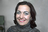 Mairead Corrigan, founder, Peace People, N Ireland, UK, 197610150440a<br /> <br /> <br /> Copyright Image from Victor Patterson, 54 Dorchester Park, Belfast, UK, BT9 6RJ<br /> <br /> t: +44 28 90661296<br /> m: +44 7802 353836<br /> vm: +44 20 88167153<br /> e1: victorpatterson@me.com<br /> e2: victorpatterson@gmail.com<br /> <br /> For my Terms and Conditions of Use go to www.victorpatterson.com