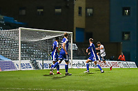 Football - 2020 / 2021 Sky Bet League One - Gillingham vs Accrington Stanley - Priestfield Stadium<br /> <br /> Dion Charles (Accrington Stanley) pounces on the through ball to score his tams second goal of the evening <br /> <br /> <br /> COLORSPORT/DANIEL BEARHAM