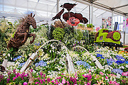 The Birminham City Council display commemorating World War 1. The Chelsea Flower Show 2014. The Royal Hospital, Chelsea, London, UK. 19 May 2014.