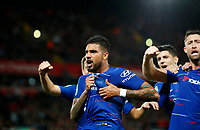 Football - 2018 / 2019 EFL Carabao Cup (League Cup) - Third Round: Liverpool vs. Chelsea<br /> <br /> Emmerson of Chelsea celebrates scoring at Anfield<br /> <br /> COLORSPORT/LYNNE CAMERON