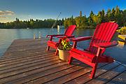 Muskoka chairs - Star Lake<br />Whiteshell Provincial Park<br />Manitoba<br />Canada