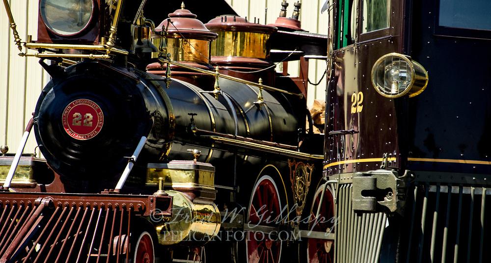 Baldwin Locomotive Inyo 22 & McKeen Motor Car 22<br /> , Nevada State Railroad Museum, Nevada Carson City