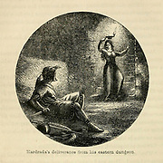Hardrada's [Harold Hardrada] deliverance from his eastern dungeon From the Book 'Danes, Saxons and Normans : or, Stories of our ancestors' by Edgar, J. G. (John George), 1834-1864 Published in London in 1863