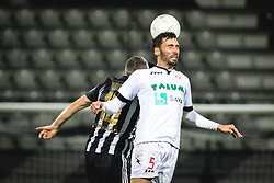 Nino Kouter of Mura and Mario Lucas Horvat of Aluminij during football match between NS Mura and Aluminij in 7th Round of Prva liga Telekom Slovenije 2020/21, on October 18, 2020 in Mestni stadion Fazanerija, Murska Sobota, Slovenia. Photo by Blaž Weindorfer / Sportida