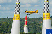The runner up in the final was Nigel Lamb (UK) in his Breitling - Red Bull Air Race World Championships at Ascot Race Course. A combination of high speed, low altitude and extreme manoeuvrability make it only accessible to the 'world's most exceptional pilots'. 12 pilots compete in the Master Class category in eight races across the globe for the title of 2014 Red Bull Air Race World Champion. The objective is to navigate an aerial racetrack featuring air-filled pylons in the fastest possible time, incurring as few penalties as possible. All 12 pilots race with a standardised propulsion package – a high-performance, race-tuned standardised engine (Lycoming Thunderbolt) and standardised propellers (Hartzell 3-bladed). They do have a chooice of 3 single engine/seater aircraft - the Zivko Aeronautic Edge 540, the MXS-R and the Hungarian University of Aviation's Corvus Racer 540 - all cappable of around 230kts and of surviving high G forces, 10+. A new feature of the 2014 Red Bull Air Race World Championship is the debut of the new Challenger Cup, giving a new generation of talented pilots from around the world a chance to race. Entertainement is provided by the Red Arrows and the Breitling Wingwalkers, amongst others.  Ascot Racecourse, High St, Ascot, Berkshire, UK.