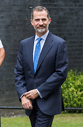 King Felipe VI of Spain meets Prime Minister Theresa May at Downing Street. 13 Jul 2017 Pictured: King Felipe VI of Spain. Photo credit: MEGA TheMegaAgency.com +1 888 505 6342