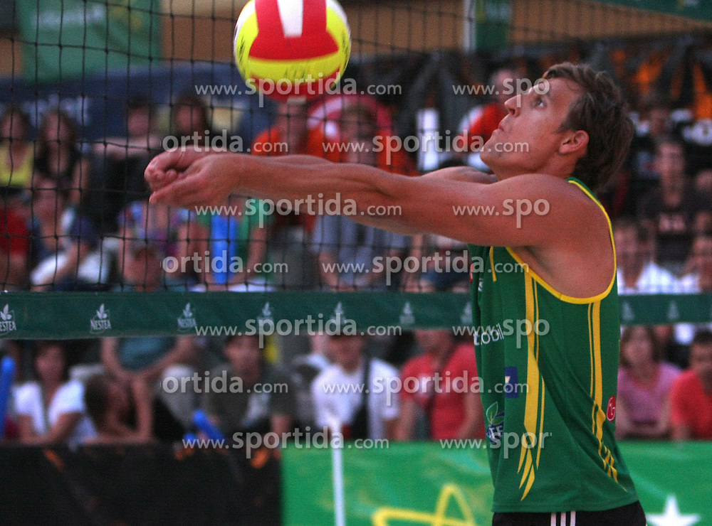 Jernej Potocnik (Boznar & partner - EKOL Team) at qualifications for 14th National Championship of Slovenia in Beach Volleyball and also 4th tournament of series TUSMOBIL LG presented by Nestea, on July 25, 2008, in Kranj, Slovenija. (Photo by Vid Ponikvar / Sportal Images)/ Sportida)