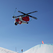 Gus Kenworthy, USA,  in action in the Halfpipe Finals during The North Face Freeski Open at Snow Park, Wanaka, New Zealand, 3rd September 2011. Photo Tim Clayton...