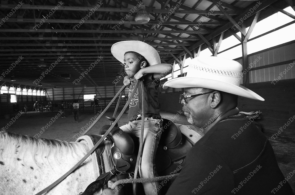 FLEMINGTON, NEW JERSY: CRazy faith riders during a cowboy celebration in Flemington, NJ on Saturday, August 28, 2021.  The celebration featured team sorting, horseback riding and a cookout.    (Brian Branch-Price/TheFotoDesk)