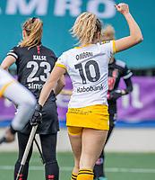 AMSTELVEEN - Noor Omrani (DenBosch) heeft gescoord  tijdens  de hoofdklasse hockey competitiewedstrijd dames, Amsterdam-Den Bosch (0-1)  COPYRIGHT KOEN SUYK