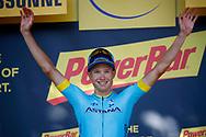 Podium, Magnus Cort Nielsen (DEN - Astana Pro Team) winner, during the 105th Tour de France 2018, Stage 15, Millau - Carcassonne (181,5 km) on July 22th, 2018 - Photo Luca Bettini / BettiniPhoto / ProSportsImages / DPPI