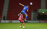 Ipswich Town defender Luke Chambers (4)  clears the ball during the EFL Sky Bet League 1 match between Doncaster Rovers and Ipswich Town at the Keepmoat Stadium, Doncaster, England on 20 October 2020.