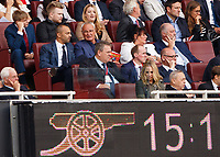 Football - 2018 / 2019 Premier League - Arsenal vs. West Ham United<br /> <br /> Claudio Ranieri an interested spectator sits a couple of rows behind West Ham co owner David Sullivan at The Emirates.<br /> <br /> COLORSPORT/DANIEL BEARHAM