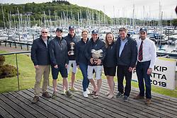 Pelle P Kip Regatta 2019 Prizegiving<br /> <br /> Winning crew with sponsors - Animal