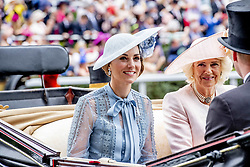 Duchess of Cambidge and Duchess of Cornwall attending the Royal Ascot, during day one of the at Ascot Racecourse in Ascot, UK, on Tuesday June 18, 2019. Photo by Robin Utrecht/ABACAPRESS.COM