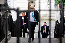 © Licensed to London News Pictures. 13/09/2016. London, UK.  Foreign Secretary BORIS JOHNSON arrives at 10 Downing Street in London for cabinet meeting on September 13, 2016. Photo credit: Ben Cawthra/LNP