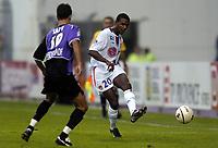 Fotball<br /> Frankrike 2004/05<br /> Istres v Lyon<br /> 23. oktober 2004<br /> Foto: Digitalsport<br /> NORWAY ONLY<br />  ERIC ABIDAL (LYON) / RAFIK SAIFI (IST)