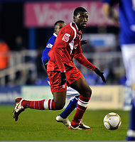 Guy Moussi<br /> Nottingham Forest 2009/10<br /> Birmingham City V Nottingham Forest (1-0) 12/01/10<br /> The FA Cup 3rd Round Replay<br /> Photo Robin Parker Fotosports International