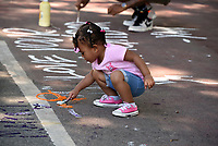 June 12 + 13, 2020. Young and old make their feelings known in paint along H Street NW, which borders Lafayette Square and the White House. Two weeks after peaceful protesters were teargassed, the nation's capital remains on edge, those in power unwilling to confront either a racist past or an equitable future. In yellow letters 35 feet high, the street that spans two blocks between K Street NW and the White House has been renamed Black Lives Matter Plaza NW, an effort seen around the world. The area has become a pilgrimage spot for thousands of people supporting civil rights.