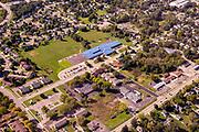 Aerial photograph of Kegonsa Elementary School in beautiful, historic Stoughton, Wisconsin, USA.