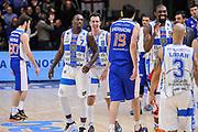DESCRIZIONE : Campionato 2014/15 Serie A Beko Dinamo Banco di Sardegna Sassari - Acqua Vitasnella Cantu'<br /> GIOCATORE : Rakim Sanders Giacomo Devecchi Shane Lawal<br /> CATEGORIA : Ritratto Esultanza<br /> SQUADRA : Dinamo Banco di Sardegna Sassari<br /> EVENTO : LegaBasket Serie A Beko 2014/2015<br /> GARA : Dinamo Banco di Sardegna Sassari - Acqua Vitasnella Cantu'<br /> DATA : 28/02/2015<br /> SPORT : Pallacanestro <br /> AUTORE : Agenzia Ciamillo-Castoria/L.Canu<br /> Galleria : LegaBasket Serie A Beko 2014/2015