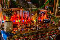 Portraits of the Dalai Lama, Diskit Monastery, Nubra Valley, Ladakh, Jammu and Kashmir State, India.