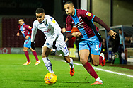 Scunthorpe United defender Cameron Borthwick-Jackson (3) during the EFL Sky Bet League 1 match between Scunthorpe United and Wycombe Wanderers at Glanford Park, Scunthorpe, England on 29 December 2018.