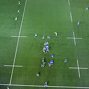 Players contest a line out during the Ireland V Italy Pool C match during the IRB Rugby World Cup tournament. Otago Stadium, Dunedin, New Zealand, 2nd October 2011. Photo Tim Clayton...