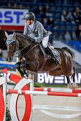 WEISHAUPT Philipp (GER), Coby<br /> Stuttgart - German Masters 2019<br /> PREIS DER FIRMA XXL-SICHERHEIT<br /> Zeitspringprüfung International<br /> Qualifikation zum MERCEDES GERMAN MASTER<br /> 14. November 2019<br /> © www.sportfotos-lafrentz.de/Stefan Lafrentz
