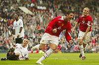 Photo: Aidan Ellis.<br /> Manchester United v Charlton Athletic. The Barclays Premiership. 07/05/2006.<br /> united's Cristiano Ronaldo celebrates his goal and teams second