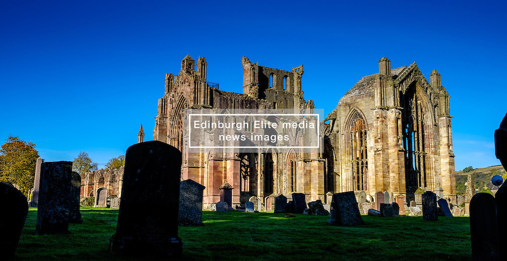 Melrose Abbey, Melrose. Scottish Borders with the old graveyard in the foreground<br /> <br /> (c) Andrew Wilson | Edinburgh Elite media