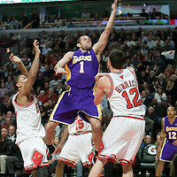 15 December 2009: Los Angeles Lakers guard Jordan Farmar goes to the basket for the lay up during the Los Angeles Lakers 96-87 victory over the Chicago Bulls at the United Center, in Chicago, Illinois, USA.