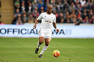 Andre Ayew of Swansea city in action. Barclays Premier league match, Swansea city v Arsenal  at the Liberty Stadium in Swansea, South Wales  on Saturday 31st October 2015.<br /> pic by  Andrew Orchard, Andrew Orchard sports photography.