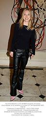 The HON.IMOGEN LLOYD WEBBER daughter of Andrew Lloyd Webber, at an exhibition in London on 16th September 2003.PMK 99