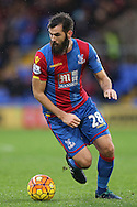 Joe Ledley of Crystal Palace in action. Barclays Premier League match, Crystal Palace v Chelsea at Selhurst Park in London on Sunday 3rd Jan 2016. pic by John Patrick Fletcher, Andrew Orchard sports photography.