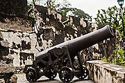 Cannons in Fortaleza do Monte or Monte Forte Macau.
