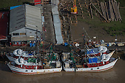 Fishing boats<br /> Georgetown<br /> GUYANA<br /> South America