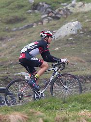 """10.07.2014, Grossglockner Hochalpenstrasse, AUT, 66. Österreich Radrundfahrt, 5. Etappe, Matrei nach St. Johann Alpendorf, im Bild Gregor Mühlberger (AUT) beim Anstieg zur Bergwertung """"Glocknerkönig"""" // during the 66 th Tour of Austria, Stage 5, from the Matrei to St. Johann Alpendorf, Grossglockner Hochalpenstrasse, Austria on 2014/07/10. EXPA Pictures © 2014, PhotoCredit: EXPA/ Johann Groder"""