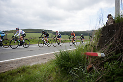 Mayuko Hagiwara and Stephanie Pohl well positioned as the race approaches the halfway point at the Liege-Bastogne-Liege Femmes - a 135.5 km road race between Bastogne and Ans on April 23 2017 in Liège, Belgium.
